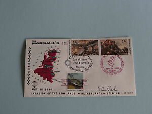 WWII FDC #8 Belgium Netherlands Lowlands Germany 1940 * 50th Anniversary