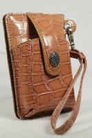 Small Wallet Design W/cell Phone Holder 'light Brown'-for Credit Cards, Id+