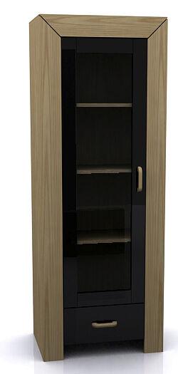 New LA Contemporary Living Furniture - High Gloss Black & Natural Oak Modern