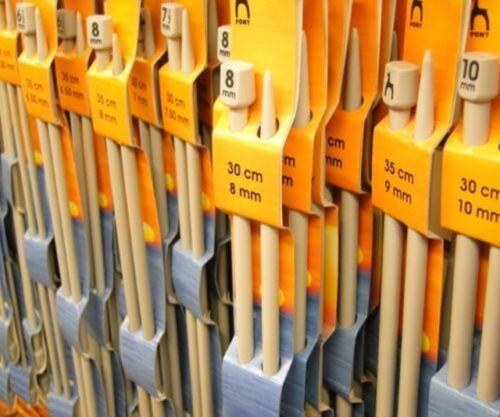 Aiguilles à tricoter pony aluminium unique pointu aiguille à tricoter 4mm x 30cm P32609