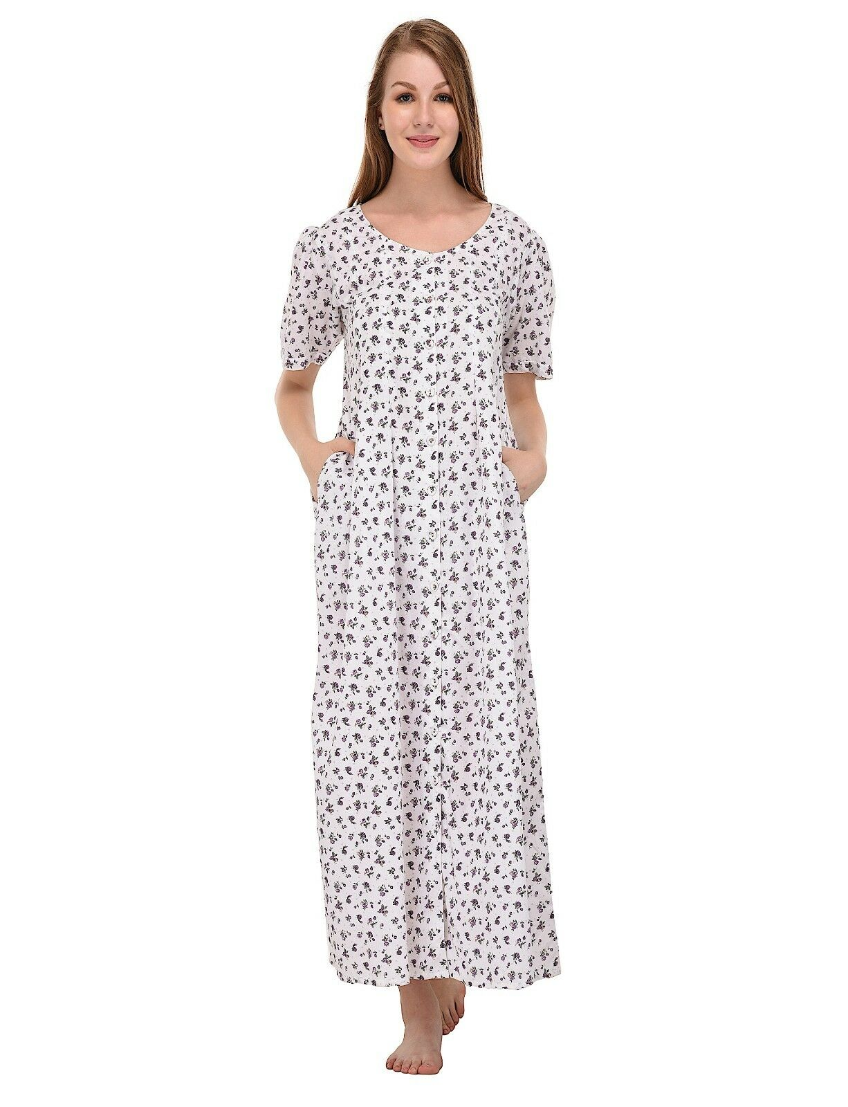 Cotton Lane Wrinkle-resistant Dress D48WYT. Größes UK 8 to 38