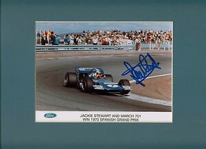 Jackie-Stewart-Hand-Signed-Autograph-at-Goodwood-on-Ford-Press-Photos-vgc