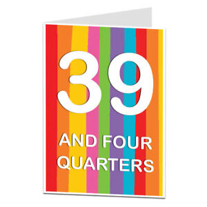 Image Is Loading 40th Birthday Card 40 Today Funny Quirky Design