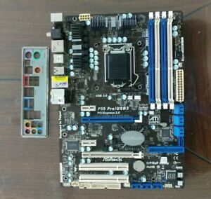 Asrock-P55-PRO-USB3-LGA1156-P55-2x-PCIE-x16-USB-3-0-IO-Shield-Tested-Working