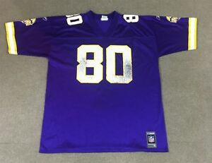 Discount Reebok Cris Carter Minnesota Vikings Jersey #80 Purple Adult XL | eBay