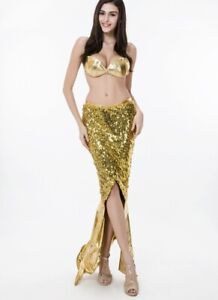 Women-Cosplay-Sexy-Ariel-Mermaid-Dress-Outfit-Sequin-Nightclub-Costume-Halloween