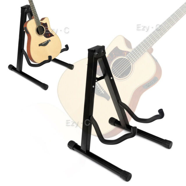 Portable Folding Electric Acoustic Bass Guitar  Frame Floor Rack Holder Stand A