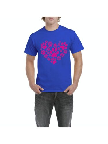 Big Heart w Little Paws Love Pets Dogs Cats Cat Lovers Birthday T-Shirt