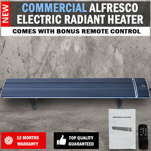 NEW-2400W-Commercial-Alfresco-Radiant-Strip-Patio-Heater-Electric-Indoor-Outdoor