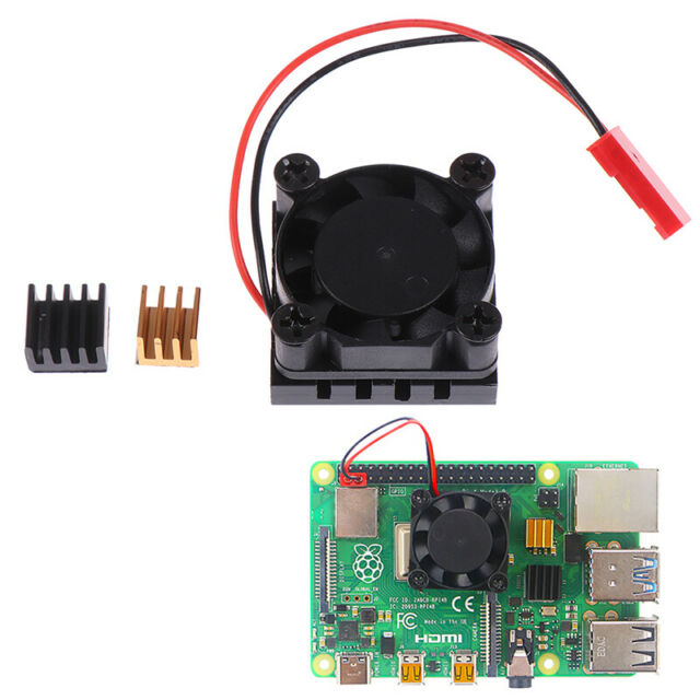 Cooling Fan with Aluminum Heatsink Cooling Pad Cooler Kit For Raspberry Pi 4B Gy