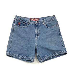 Annees 90 Guess Femmes Short En Jeans Taille Haute Mom Vintage 34 Ebay
