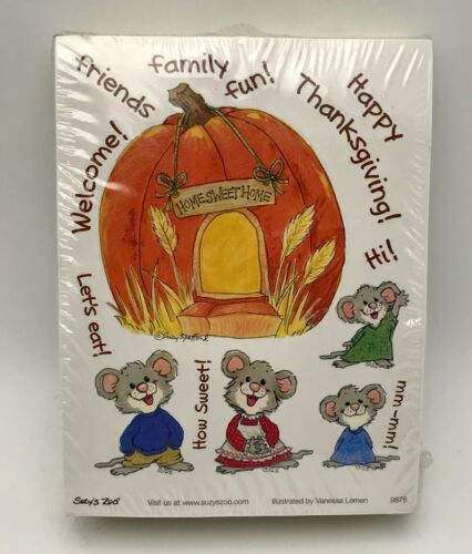 Suzys Zoo Stickers 250 Sheets Happy Thanksgiving Home Sweet Home Mice