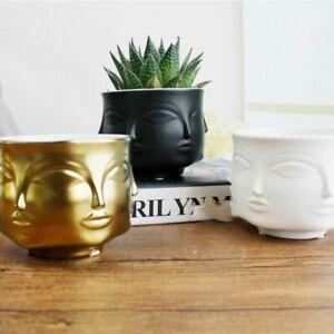 Ceramic-Flowerpot-Plants-Vase-Human-Face-Abstract-Indoor-Decor-Creative-Nordic