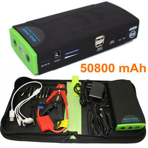 Details About 12v Car Jumper Booster 50800mah For Phone Laptop Battery Charger Jump Starter