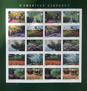 American Gardens Twenty First-Class Forever Postage Stamps Sheet Pane