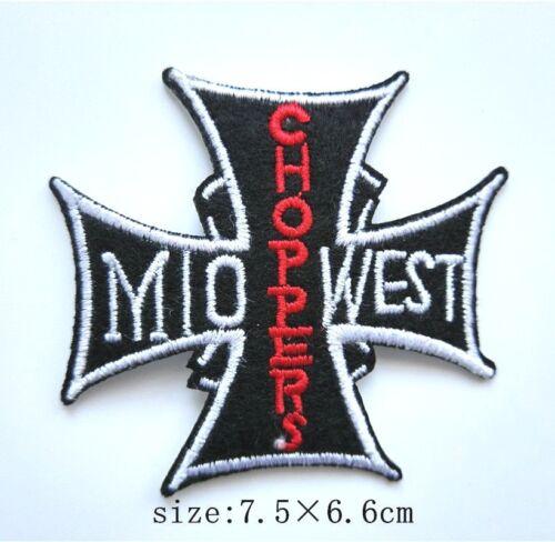 Choppers Cross-shaped Iron on Patch Short Sleeve Shirt Jacket 056