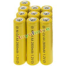 10 batterie AA ricaricabili NiCd 2800mAh 1.2V giardino lampada solare della luce