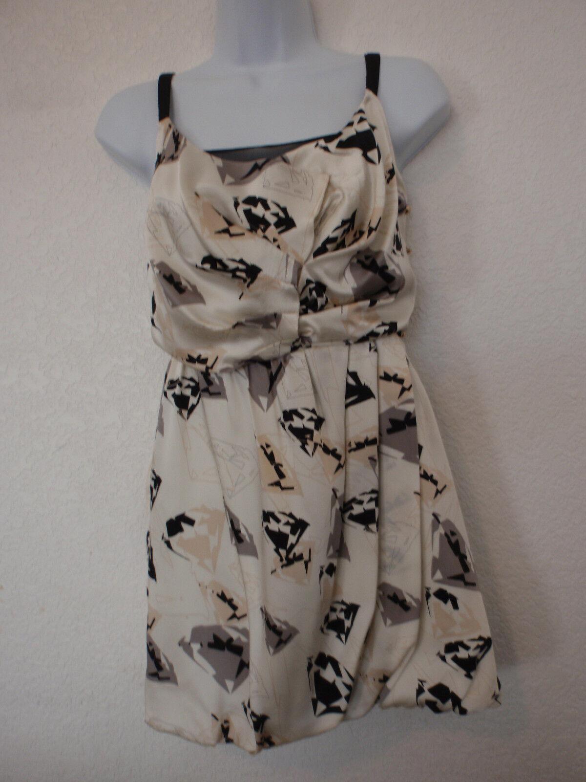 Nwt RADENRgold white diamond print buble dress size 0, extremely gorgeous