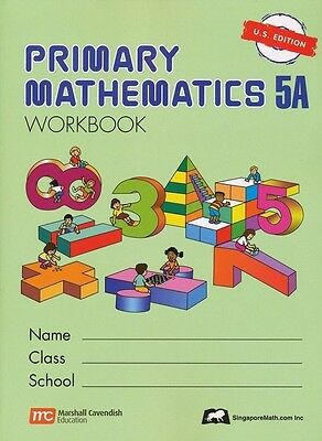 Primary Mathematics Workbook 5A US Ed - FREE Expedited Shipping UPGRADE W $45