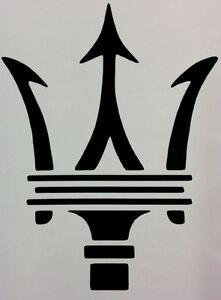 Maserati Trident Logo Vinyl Decal Home Laptop Choose Size