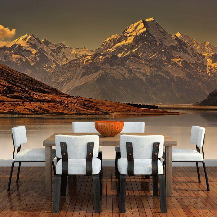 Nebelhafter Berg Wandbild Neuseeland Landschaft Foto-Tapete Schlafzimmer Dekor