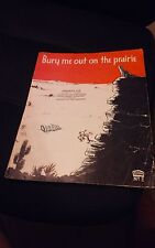 BURY ME OUT ON THE PRAIRIE  VINTAGE SHEET MUSIC   COPYRIGHT 1937