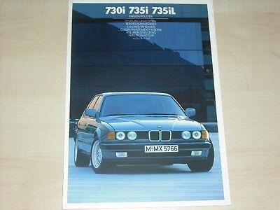 62799) Bmw 7er Reihe E32 - Farben & Polster - Prospekt 02/1986