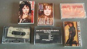 Lot of 6 JOAN JETT cassette tape tapes RARE promo sealed & the Blackhearts OOP