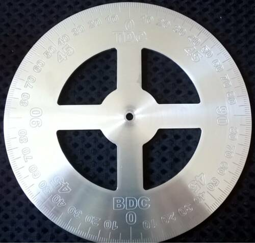 200MM DIAMETER  3MM THICK ALUMINIUM CNC ENGRAVED ENGINE TIMING DISC