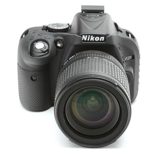 EasyCover silicone pelle morbida caso cover protettore Nikon D5200 NERO UK STOCK