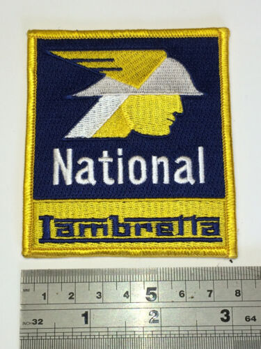 Iron or Sew On National Lambretta Patch Embroidered
