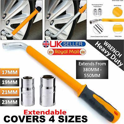 Extendable Wheel Brace Wrench Telescopic Car Socket Tyre Nut 17 19 21 23mm UKED