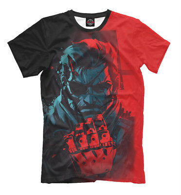 Brand New Metal Gear T-Shirt Fox Hound Solid Snake Tactical Espionage Action Tee