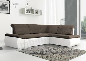 wohnlandschaft braun weis, ecksofa eckcouch sofabett wohnlandschaft l-form braun weiß, Design ideen
