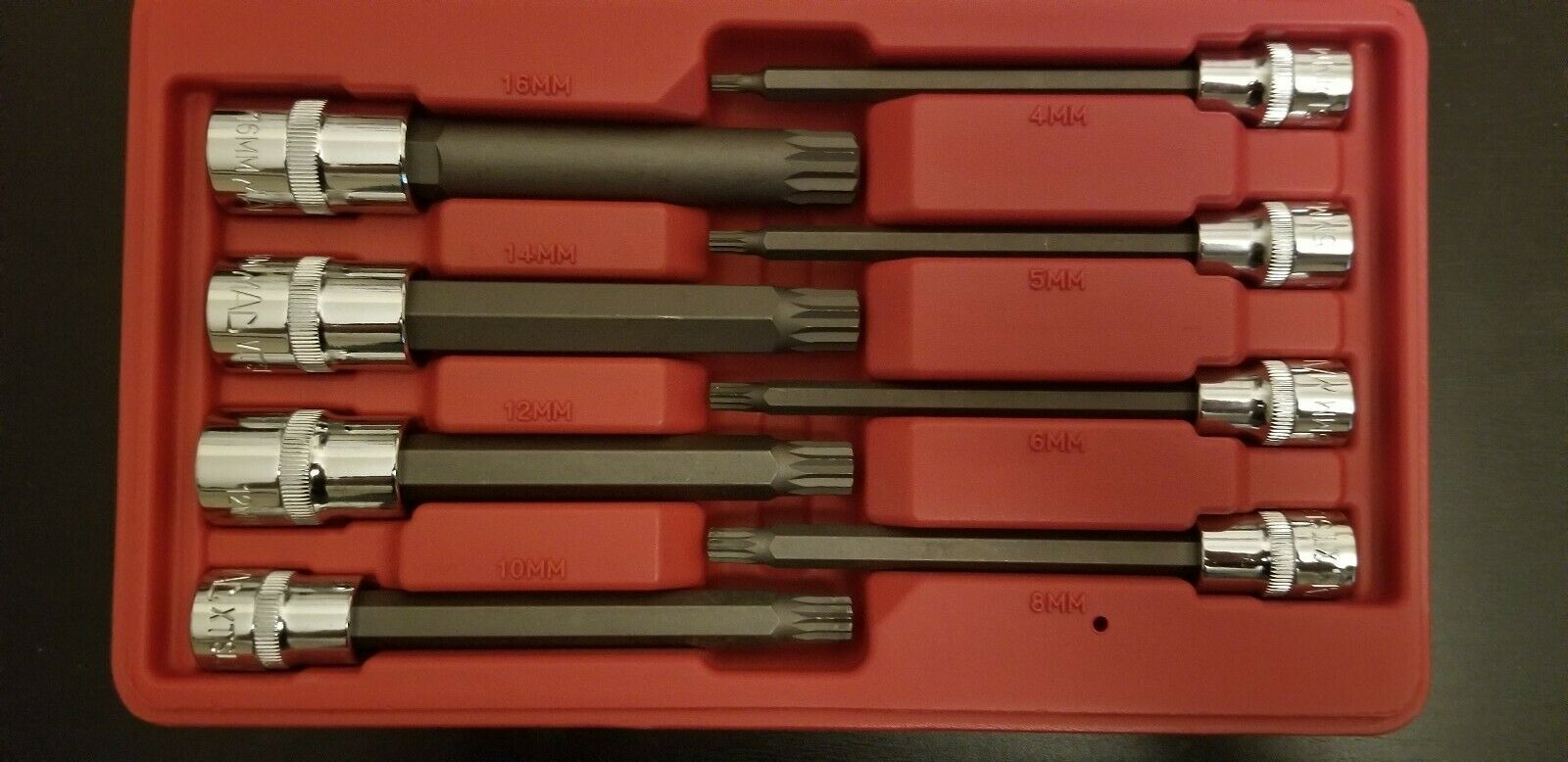 Laser Tools 5755 Precision Ratchet Nut Driver Set 8pc