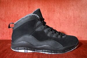 cd2dc80ffdd8 WORN 2X Nike Air Jordan 10 X Retro Stealth Black White Grey 310805 ...