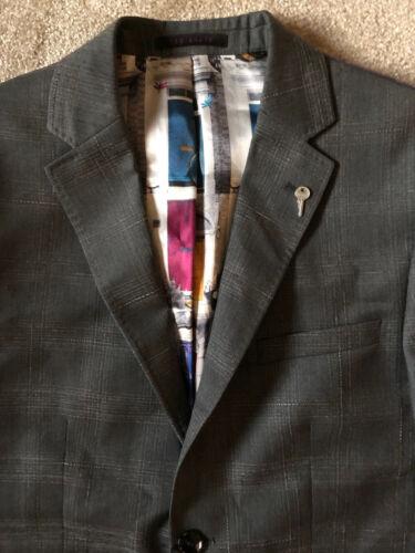 gris Ted calgarj balises Manteau pour Nouvelles moyen hommes de 3 laine de 38r veste Baker blazer en 8H8aqwfr