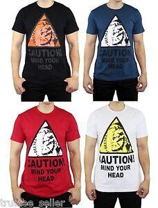 7a290d2f1 DIESEL Designer Fashion Men's Slim Fit T-CAUTION Mohawk Graphic Tee ...