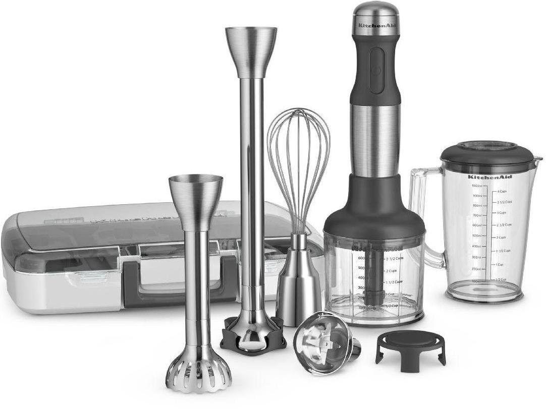 Nouveau All Metal KitchenAid 5-Vitesse d'Immersion mélangeur à main et accessoires KHB2571SX