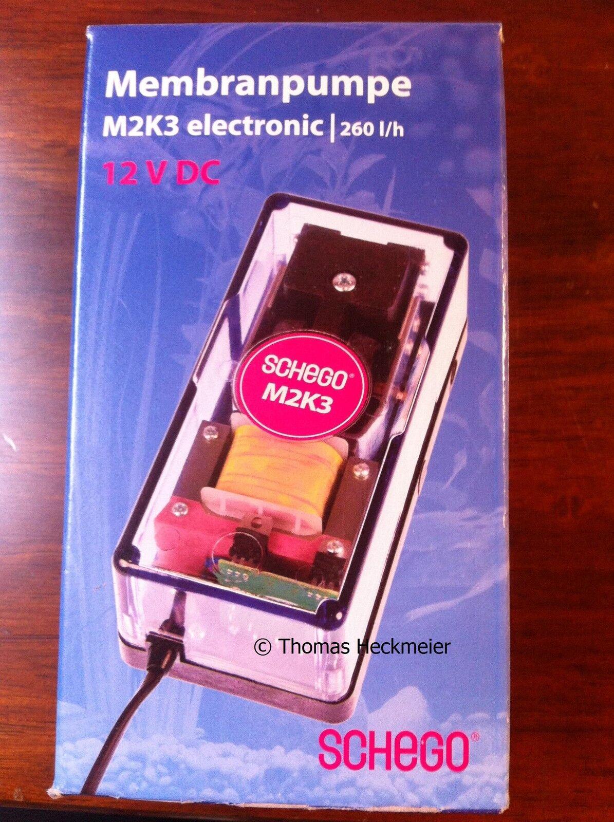 Schego M2K3 electronic 12 V Membranpumpe   Durchlüfter   Luftpumpe Aquarium