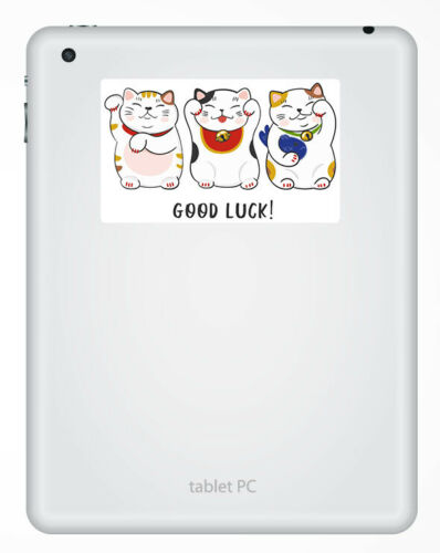 2 x 10cm Good Luck Vinyl Stickers Lucky Cats Japan China Laptop Sticker #20884