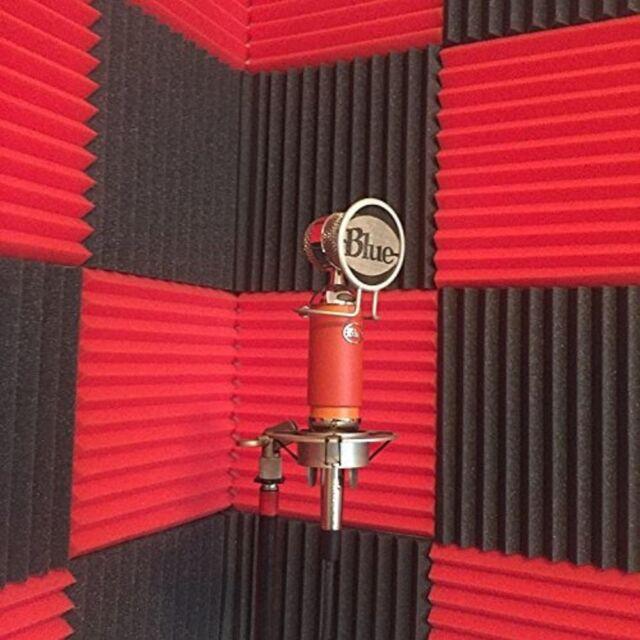 Acoustic Foam Wedges 12pc Noise Reduction Studio Wall Panels Soundproofing Tiles