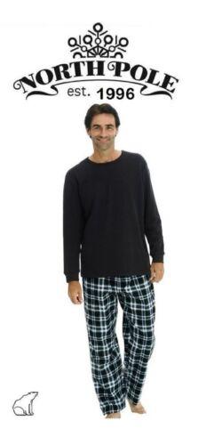 Homme De luxe polaire 2 pièces pyjama avec Thermique Haut à manches longues