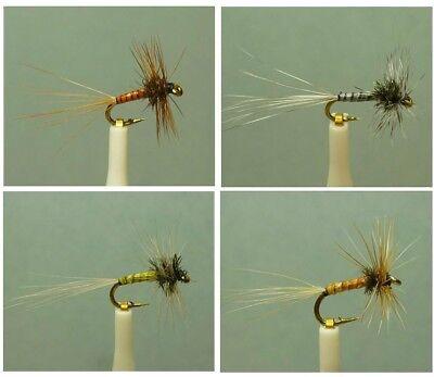 24 Artflies Midge Dry Flies 4 Popular Colors ~ Choose Pattern and Hook Size ~