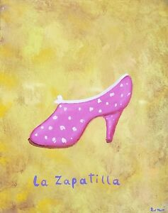 Beautiful-mexican-loteria-card-lady-show-zapatilla-painting-artist-Esau-Andrade