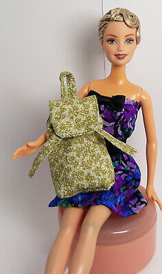 Handmade Leather Fabric Backpack Bag Rucksack For Silkstone Muse Doll Blythe
