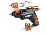WORX WX254L SD Semi-Automatic Power Screw Driver with 12 Driving Bits - New Open Box