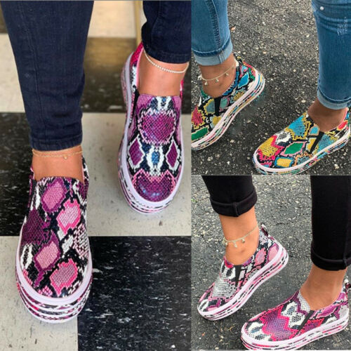 Womens Girls Slip On Flat Shoes Ladies Casual Comfy Pumps Sneakers Loafers Size