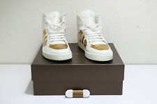 d903a6750 Gucci White Gold 9068 Men s Contrast Padded Leather High-top 368494 US 12  Shoes