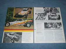 """1982 Raceco Class 1 Race Buggy Vintage Article """"Hot Ticket"""" VW Powered"""